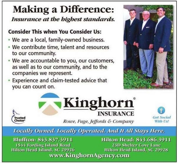 Thanks to all who voted for Kinghorn Insurance Agency for the The Island Packet Reader's Choice Award For Best Insurance Agency!